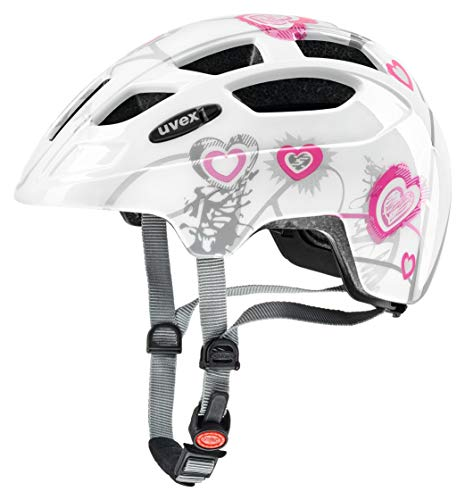 Uvex Kinder Finale Junior Mountainbikehelm mehrfarbig (heart white pink) 51-55 cm