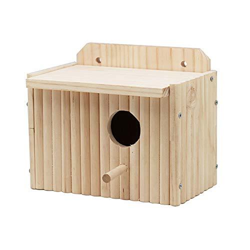 Ailihan Vogel Haus Nest Massivholz (ca. 19 * 12 * 15,5 cm)