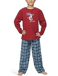 Jungen Schlafanzug mit Flanellhose - Moonline