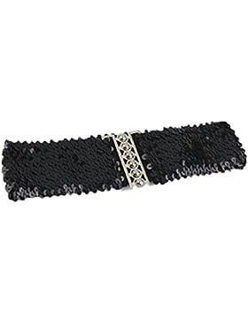 zolimx Cinturones de mujer, Vendimia Manual correas de cinturón de lentejuelas