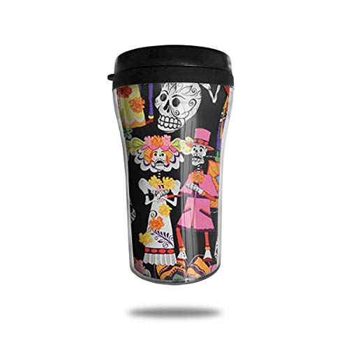 Wfispiy Skull Pattern Funny Stainless Steel Travel Coffee Mugs Cup with Leak Proof Lid 8 Ounces 8 Oz Irish Coffee Mug