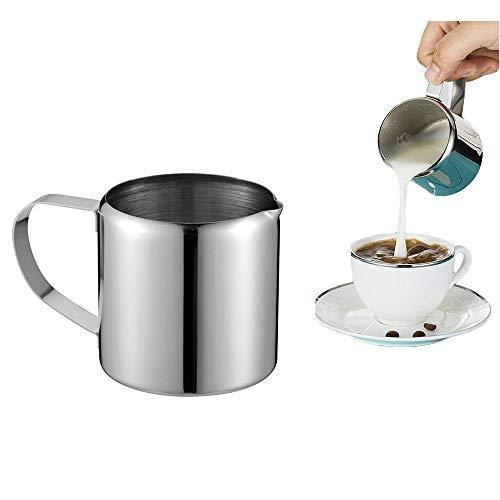 Milchschaum Kaffee Pull Cup Pull Flower Milch Cup Multi-Standard Edelstahl Kaffeemaschine Milch Cup Milchtank Milchtopf,5suits - 5 Unze-körper-milch