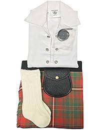 Hay Tartán ropa de bebé ajustable de estilo celta, manguera, Sporran 0–24meses