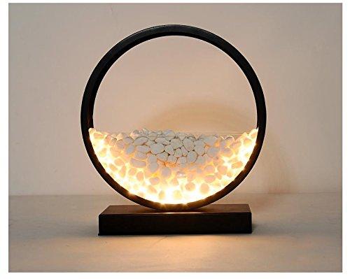 Moderne kreative Dekoration Tischlampe/Nordic Pastoral Runde Stein Pflanze Tisch Lampe/Romantische Geschenk Tischlampe, large size (d=30cm) distribution simulation - 30 Runden Tisch