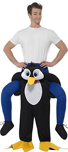 Smiffys SMIFFY 'S 48815Piggyback Pinguin Kostüm, Schwarz, One Size