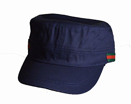 KGM Accessories Nice Military Kappe Cadet Seite Stripe Logo Marineblau -