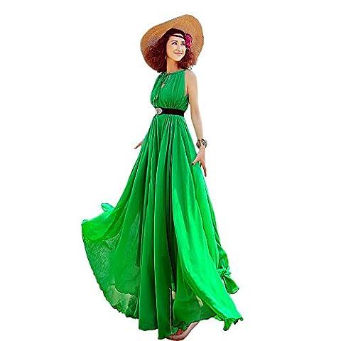 Years Calm - Robe - Dos nu - Sans Manche - Femme - vert - Taille Unique
