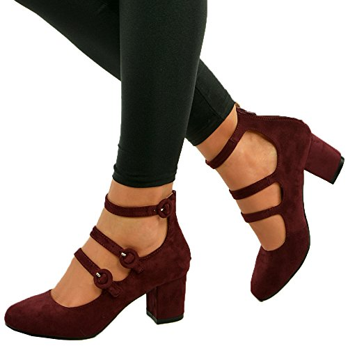 new-womens-ladies-mid-block-heel-mary-jane-ankle-strap-pumps-shoes-size-uk-3-8