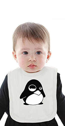 Tux Penguin In A Bad Mood Organic Bib With Ties Medium (Tuxedo Jacket Formale)