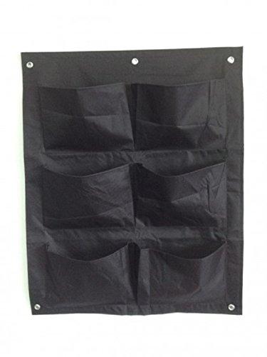 Pflanztasche, 6 Fächer, Nylon 600D, 56x70 cm, schwarz
