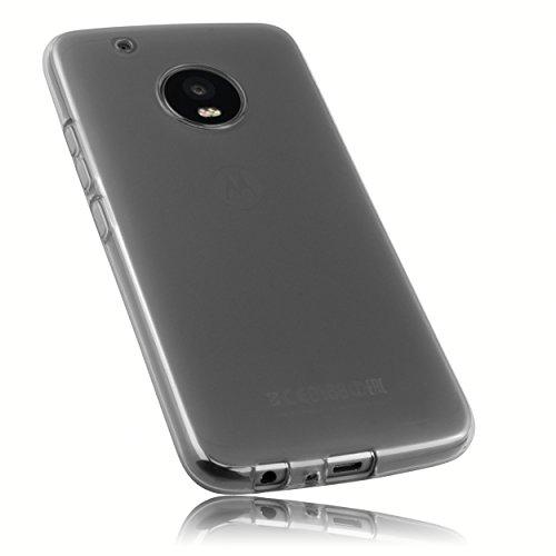 mumbi Schutzhülle für Lenovo Moto G5 Plus Hülle transparent schwarz