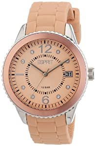 Esprit - ES105342010 - Montre Femme - Quartz Analogique - Cadran Beige - Bracelet Silicone Beige