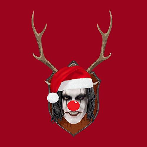 The Crow Christmas Antler Head Women's Hooded Sweatshirt Cherry Red