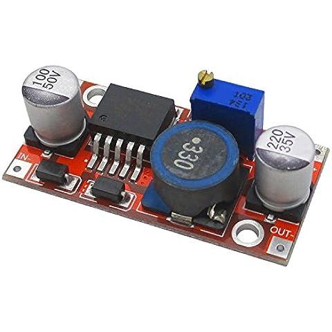 kaisil Sensor/Módulo de DC de versión de actualización de Buck LM2596DC 3A, correas ajustables–Inductancia Upgrade regulador de 5V