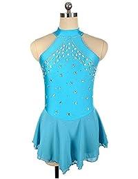 80ae75739f19 JRYYUE Vestito Artistico per Donna da Ragazza Ghiaccio Vestiti Elevata  Elasticità Abbigliamento Tempo Libero Prestazioni