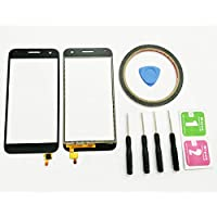JRLinco ParaHuawei Ascend G7Pantalla Táctil de Cristal,Touch Screen Digitizer Outer Glass Replacement (Sin LCD Display, no compre mal) Para Huawei Ascend G7 Negro + Herramientas y Adhesivo