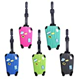 PVC Luggage Tags Aircraft Luggage Labels Address Travel Accessories Handbag Tag Travel Suitcase ID Name-RECTANGLE Identifier Label (5 Pcs)