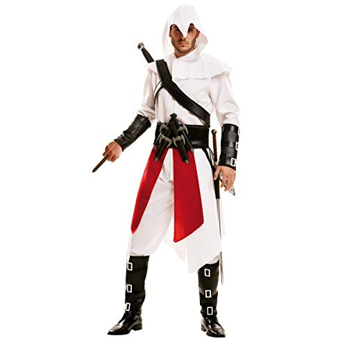 Kind Größe Kostüm Creed Assassins - My Other Me Mörderkostüm für Herren (Viving Costumes) Small weiß