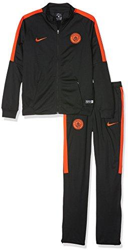 Nike Y Nk Dry TRK Suit Sqd K Chándal línea Manchester City F.C, Niños, Negro Black Team Orange, M