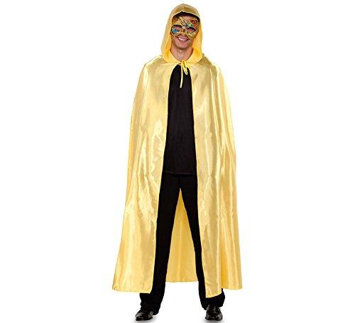 Gold Cape Kostüm - Fyasa 706280-t04-oro venezianischen Cape Kostüm, Gold,