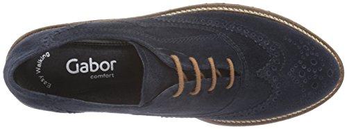 Gabor Comfort Sport, Derby Femme Bleu (Ocean S.S/C)