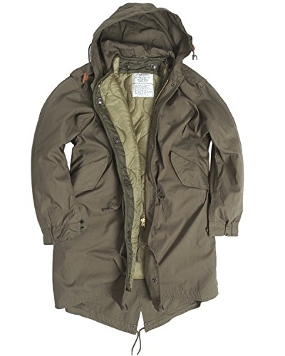US Army Olive Drab M51 Fishtail Winter Shell Kapuzen Parka Jacke mit rutschsicher, Grn, XXS -