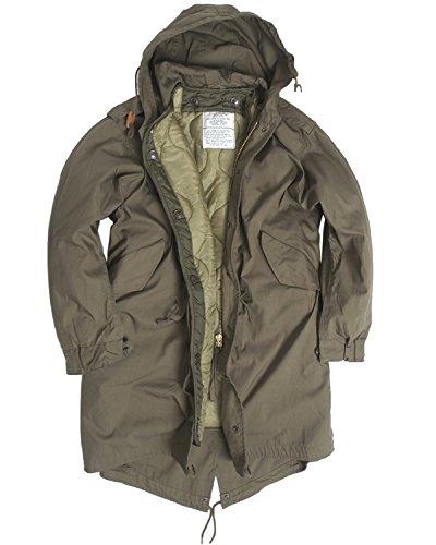 US Army Olive Drab M51Fishtail Winter Shell Kapuzen Parka Jacke mit rutschsicher, Grn, XXS -
