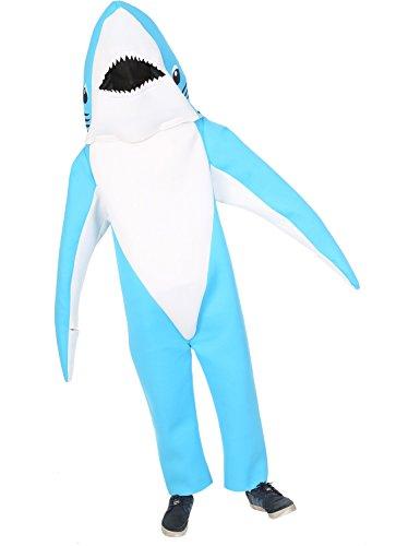 Hai Kostümen (Erwachsene Superbowl Hai Tier Verkleidung Karneval Fashing Kostüm Extra)