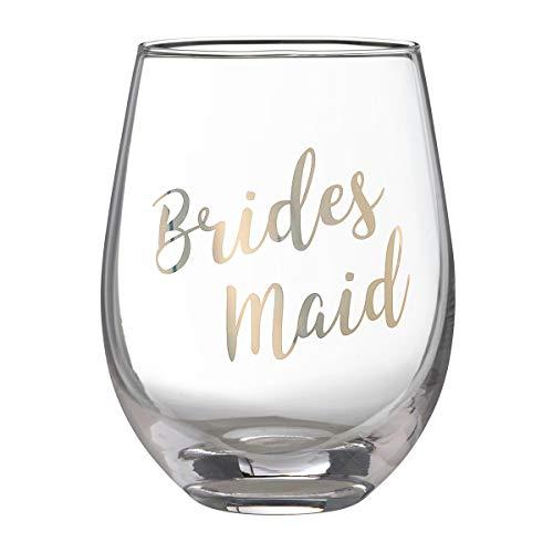Lillian Rose G115 BM Gold Bridesmaid Stemless Wine Glass, Height 4.75 inches Margarita-goblet