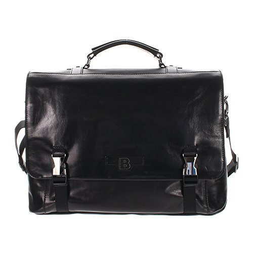 The Bridge Hydro Messenger Serviette cuir 42 cm nero/gun metal