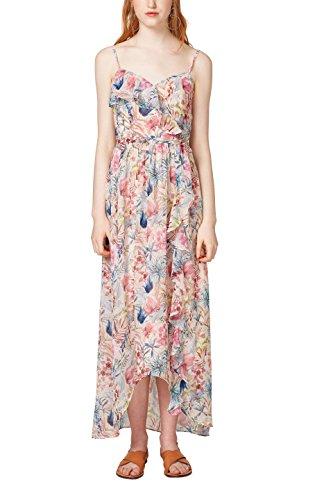 ESPRIT Collection Damen Kleid 058EO1E013, Weiß (Off White 110), 36