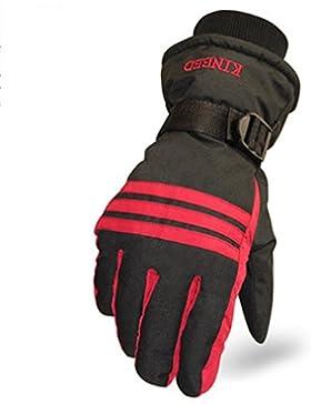 QKR&bellissimi guanti motociclo Tenere caldo guanti Uomo impermeabile A prova di vento Freddo Riso Tenere caldo...