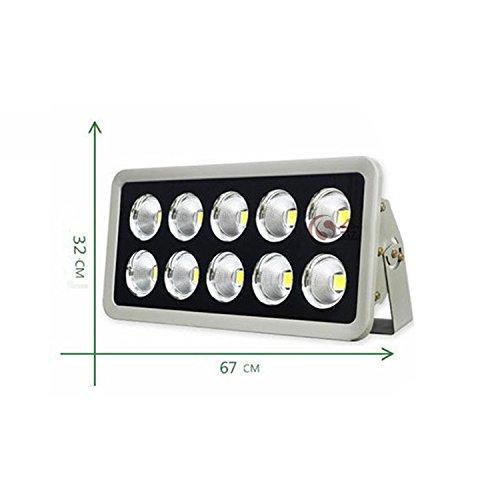 JAYLONG Flutlicht 50W-800W LED, Wasserdichtes IP65, 8900Lm, Super Helle LED-Flut-Lichter Im Freien Für Spielplatz, Garage, Garten, Rasen Und Yard-Modell,500W - 65w Birnen