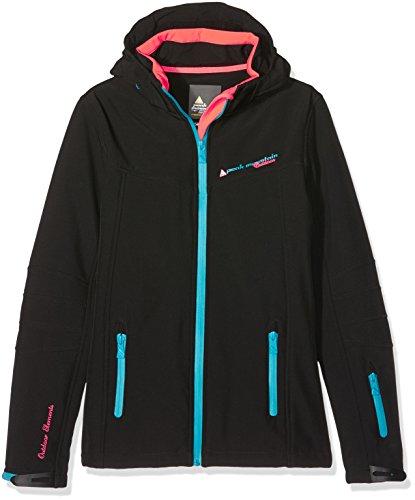 Peak Mountain Mädchen-Jacke Gamala 14 Jahre schwarz/blau - Mädchen-größe Ski-jacken 14 Für