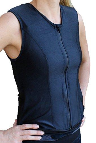 Challenge Gewichtete Workoutwear - Die Beste Gewichtsweste für Frauen, Damen, schwarz, Medium