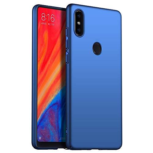 TVVT Funda para Xiaomi Mi Mix 2S, Ultra-Delgado Ligera Dura PC Carcasa Mate Plastico Rígido Protectora con Anti-Rasguños Anti-Choque Case Cover - Azul
