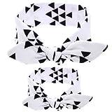 2PC/Lot de Maman et Moi Assortie Bandeaux Oreilles de Lapin Bandes de Cheveux Doux Coton Bowknot Bandeau Photo Prop Cadeau Doubtless Baie Blanc Blanc...