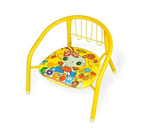 Mediawave store sedia colorata bambini in metallo 155352 con fischietto 15kg max 36x34x35 cm (giallo)
