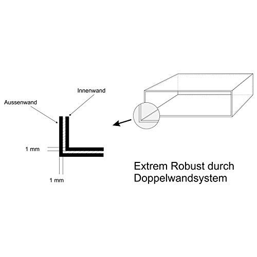 AL Briefkastensysteme 3 er Briefkastenanlage in V2A Edelstahl, Premium Briefkasten DIN A4, 3 Fach Postkasten modern Aufputz - 4