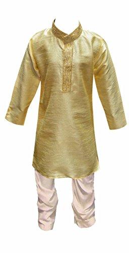 Indien Pakistan Jungen Sherwani kinder Kurta Churidar Kameez für Bollywood thema & party Kostüm Hochzeit UK 872 - Leichte Gold, EU (Kostüme Für Bollywood Männer)