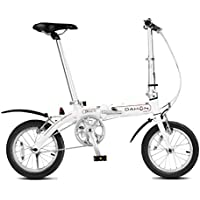 Monociclos Bicicleta Plegable Bicicleta Unisex Mini Bicicleta Adulta Bicicleta pequeña Rueda portátil (Color : Blanco, Size : 115 * 27 * 80cm)