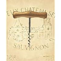 Feelingathome.it, STAMPA SU TELA 100% cotone INTELAIATA Chateau Nouveau Elemento IV cm 51x41 (dimensioni personalizzabili a richiesta)