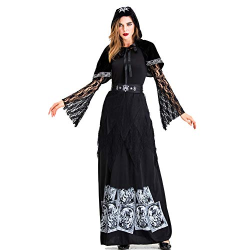 WYX Adult Female Vampire Halloween Kleidung Cosplay Earl Geisterbraut Dunkle Hexe Prinzessin Dress Teufel-Kostüme Für (Female Adult Kostüm)