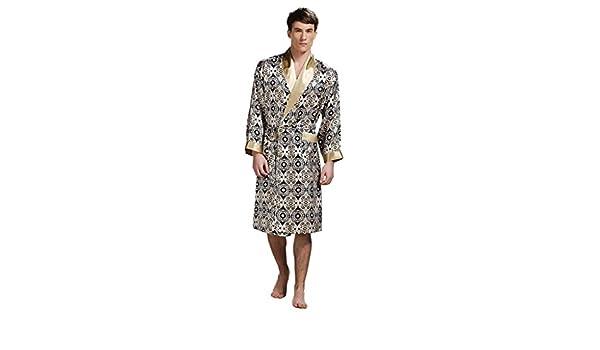 Forever Mens Angel Robe 100/%  soie luxueuse cadeau Peignoir Kimono