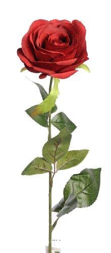 Artif-deco - Rose nina artificielle rouge amour h 70 cm tete superbe 9 cm 3 feuilles superbe - choisissez votre coloris: rouge amour