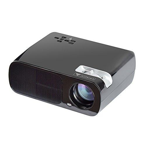 Yuntab BL20 projecteur HD 1080P Résolution Mini LED Projecteur portable 2600 Lumens Home Cinéma avec Multi - fonctionnel pour PC Portable/Smartphone pour ipad/iphone/Samsung/sony etc. -Noir