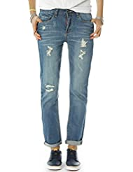Bestyledberlin pantalon en jean pour femmes, jean baggy j68e