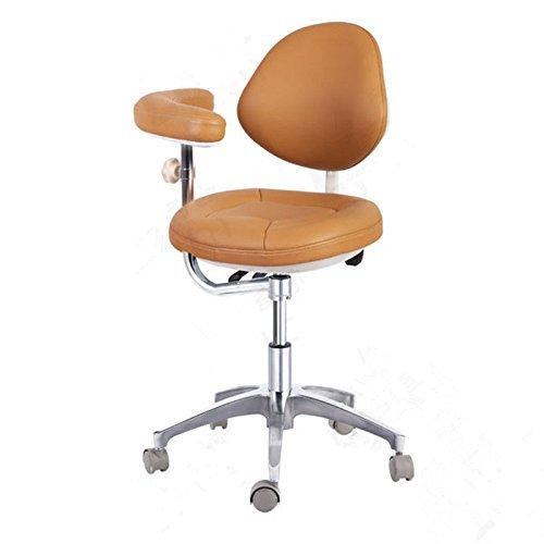 zgood verstellbar Mobile Stuhl Doctor 's Hocker Mikrofaser Leder (Lab-hocker Mobile)
