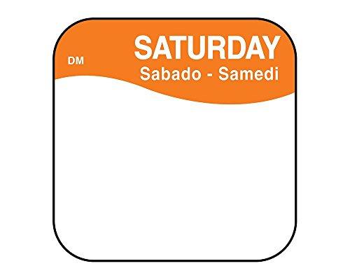 25mm x 25mm rimovibile giorni della settimana etichette adesive, 1000etichette per rotolo, ristorazione, etichette per uso da parte di memorizzazione per conservare gli alimenti, Mon-Sun.