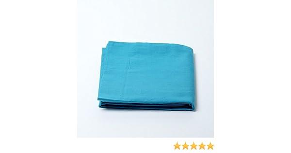 MATIN CALIN Lot de 2 Taies doreillers 50 x 70 cm Bleu Turquoise 100/% Coton 57 Fils//cm/²